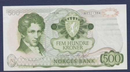 500 kr 5. utg. 1978 - 1985