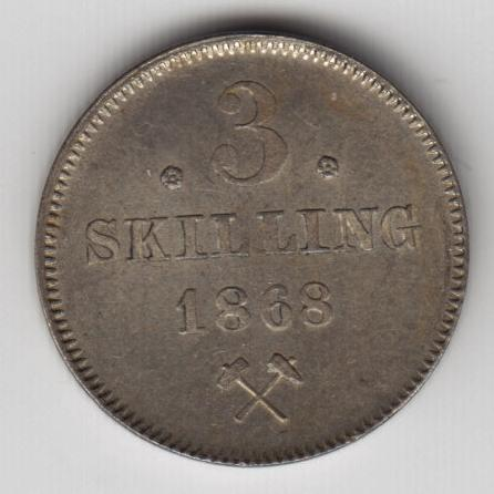 3 skillinger