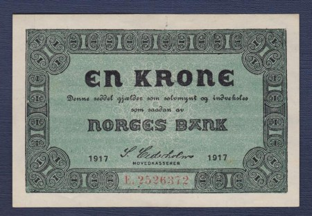 1  krone Type I 1917