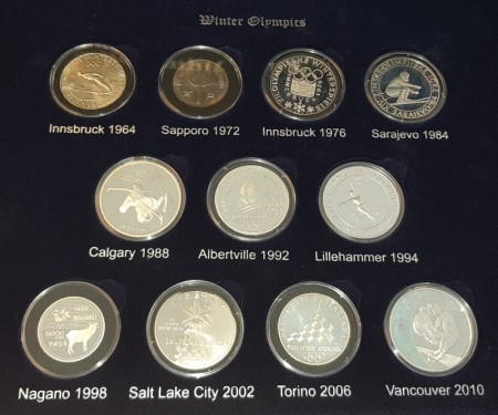 The Olympic coin collection