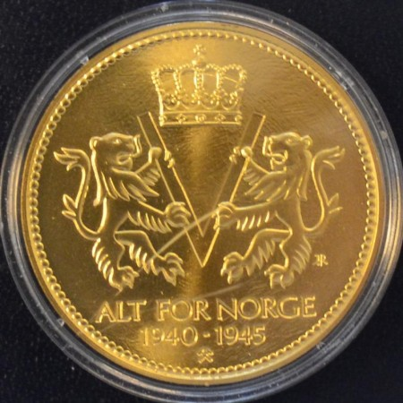 Alt for Norge 1940-1945 kobbernikkel