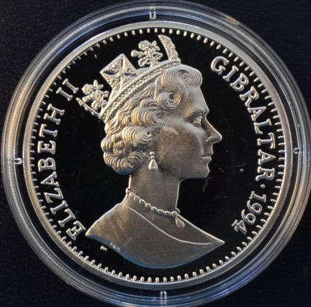 Gibraltar: 1 Crown 1994 Eisenhower