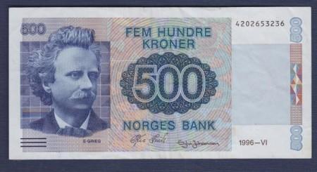 500 kr 6. utg. 1991 - 1997