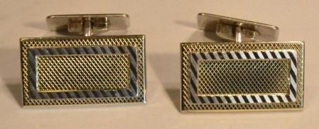 Mansjett knapper i sølv/gull