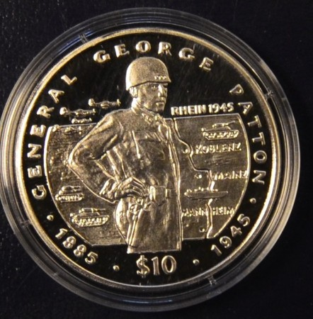 Liberia: 10 $ 1995 - George Patton